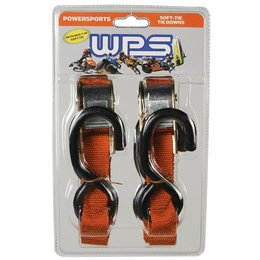 WPS Tiedowns With Soft Ties 1 Inch X 68 Inch 2 Pack Orange Universal