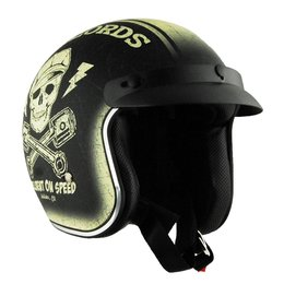 Antique Ivory Vega Mens X-380 X380 Hellbent Open Face Helmet 2014