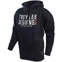 Troy Lee Designs Mens Step Up Cotton Blend Pullover Hoodie Black