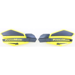 Powermadd Star Series Snow Handguards Pair Suzuki Yellow Black Universal 34206 Yellow