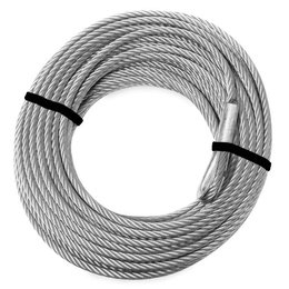KFI ATV 2000lbs Replacement Winch Cable 5/32 IN Diameter X 49 FT Long ATV-CBL-2K Silver