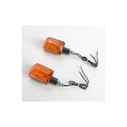 K&S Technologies Turn Signal Halogen Mini Stalk Carbon Fiber W/Amber Lens