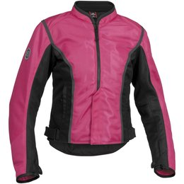 Pink, Black Firstgear Womens Contour Mesh Jacket Pink Black