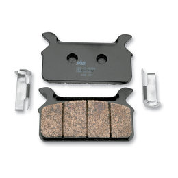 SBS High Performance H.LS Sintered Rear Brake Pads Single Set For Harley 668H.LS Unpainted