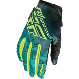 Fly Racing Youth Girls Kinetic Textile Gloves Blue