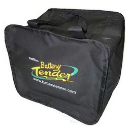 Black Battery Tender Zippered Storage Bag 4 Bank