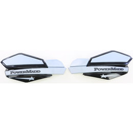Powermadd Star Series Snow Handguards Pair Black And Silver Universal 34230 Black
