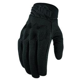 Icon Mens Anthem 2 Stealth Armored Mesh Street Riding Gloves Black