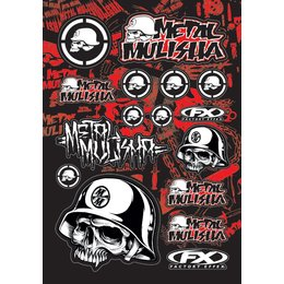 Factory Effex Sticker Kit 13 Inch X 20 Inch Metal Mulisha 1 Universal 14-68050