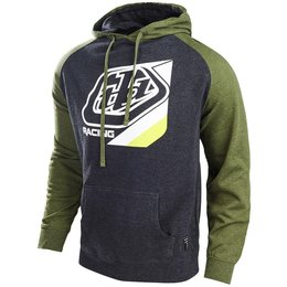 Troy Lee Designs Mens Precision Cotton Blend Pullover Hoodie Green