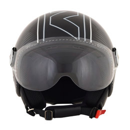 AFX FX-33 FX33 Veloce Open Face Scooter Helmet Black