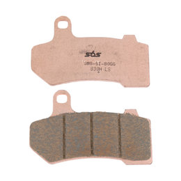SBS High Performance H.LS Sintered Rear Brake Pads Single Set Harley 830H.LS Unpainted