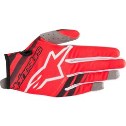 Alpinestars Youth Boys Radar Gloves Red