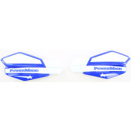 Powermadd Star Series Snow Handguards Pair Blue And White Universal 34221 Blue