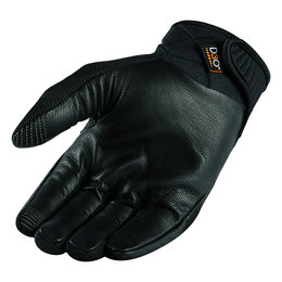 Icon Mens Anthem 2 Stealth Armored Mesh Street Riding Gloves Black