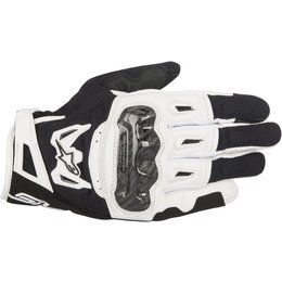 Alpinestars Mens SMX-2 SMX2 Air Carbon V2 Leather & Mesh Road Riding Gloves Black