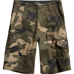 Fox Racing Youth Boys Slambozo Camo Cargo Shorts Green