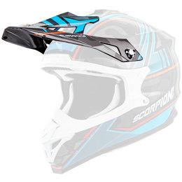Scorpion VX-35 Miramar Replacement Visor Peak MX/Offroad Helmet Accessory Blue