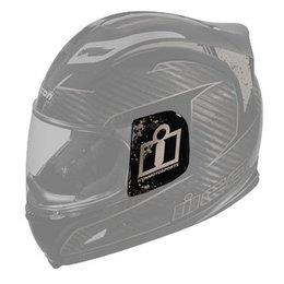 Black Icon Replacement Sideplates For Airframe Lifeform Carbon Helmet Pair