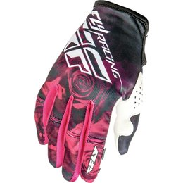 Fly Racing Womens Kinetic Textile Gloves Pink
