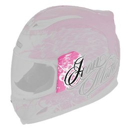 Pink Icon Replacement Sideplates For Airframe Street Angel Full Face Helmet