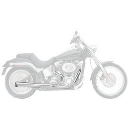 Supertrapp Supermeg Exhaust System 2-Into-1 Chrome For Harley-Davidson FXS FLST Metallic