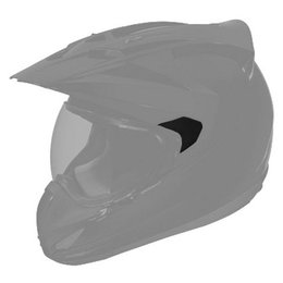 Black Gloss Icon Replacement Sideplates For Variant Dual Sport Helmet Pair