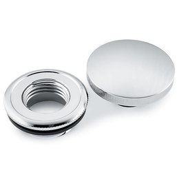 Chrome Bikers Choice Gas Cap Set With Paint Protector For Harley 82-09
