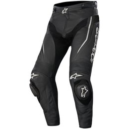 Alpinestars Mens Track Airflow Armored Leather Pants Black