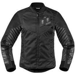 Icon Womens Wireform Armored Textile Jacket Black