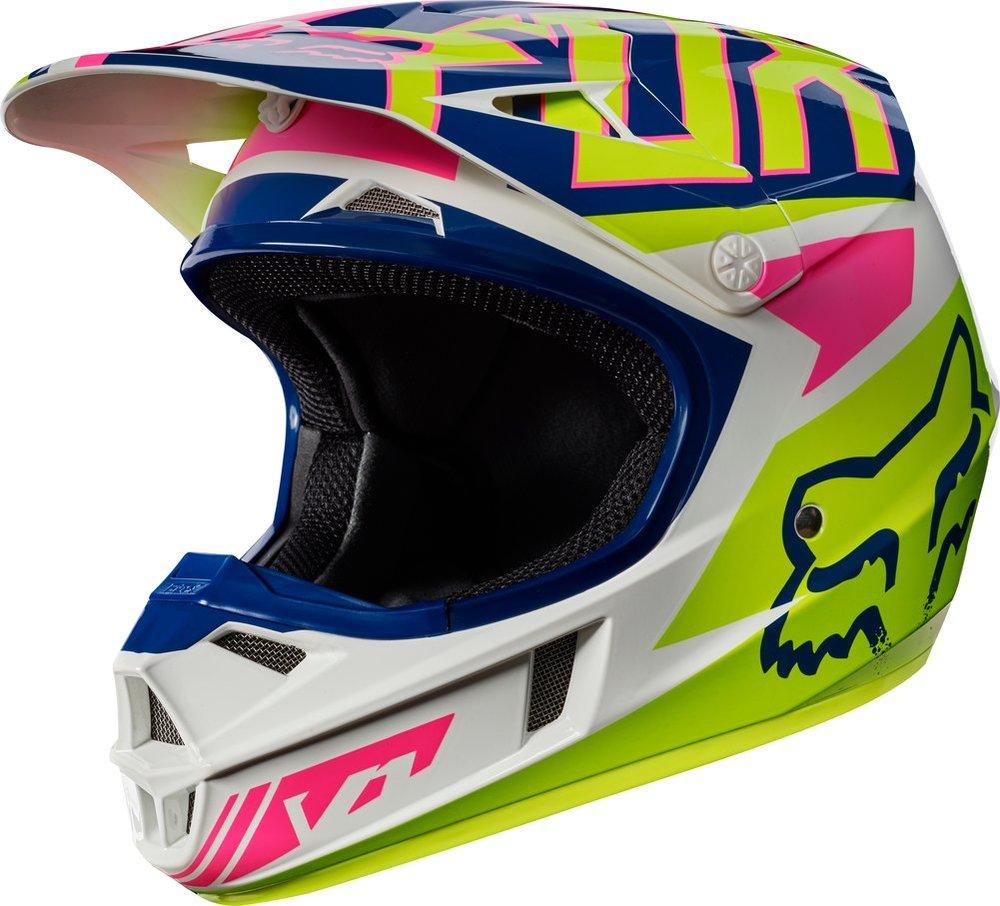 fox racing youth v1 falcon mx motocross helmet 995536. Black Bedroom Furniture Sets. Home Design Ideas
