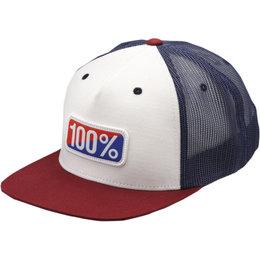 100% Mens Americana Trucker Hat Red