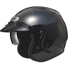 Gloss Black Gmax Mens Gm32 Open Face Helmet 2013