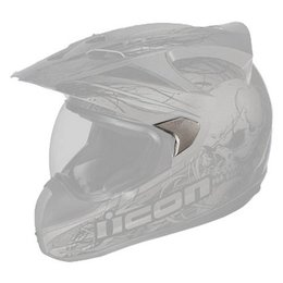 Black Icon Replacement Sideplates For Variant Etched Dual Sport Helmet Pair
