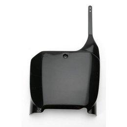 UFO Plastics Front Number Plate Black For Honda 125R 250R 450R