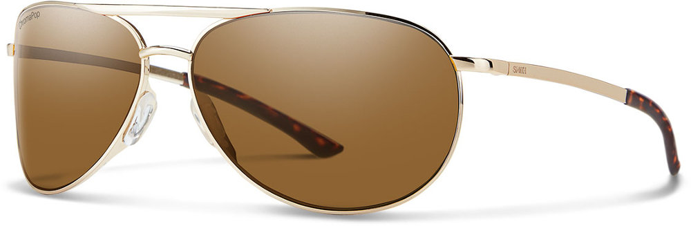 6caa0a2ad5 ... Smith Optics Serpico Slim 2.0 ChromaPop Aviator Sunglasses Gold ...