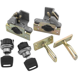 Quadboss Replacement Lock Set Pair For Traveler Trunk ATV 358413 Unpainted