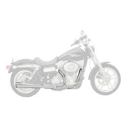 Supertrapp Supermeg Exhaust System 2-Into-1 Chrome For Harley-Davidson Dyna