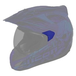 Blue Icon Replacement Sideplates For Variant Etched Dual Sport Helmet Pair
