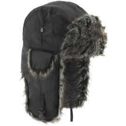 Black Zan Headgear Trooper Cold Weather Hat With Ear Flaps 2013