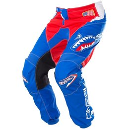 Oneal Mens Element Afterburner Motocross MX Textile Pants Blue