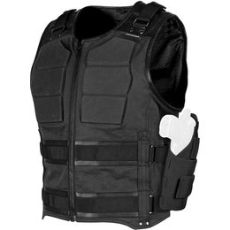 Speed & Strength Mens True Grit Armored Textile Riding Vest Black