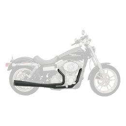 Supertrapp Supermeg Exhaust System 2-Into-1 Black For Harley-Davidson FXS FLST