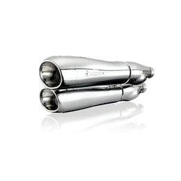 Chrome Akrapovic Dual Slip-on Mufflers Harley-davidson Flstf Flstfb Fxstd