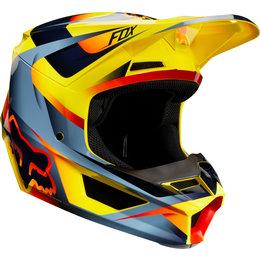 Fox Racing V1 Motif MVRS Helmet Yellow