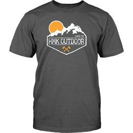 HMK Mens Peak Crew Neck T-Shirt Grey