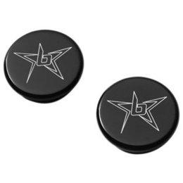 Blingstar Frame Plug Set Billet Aluminum Black For Suzuki LT-R450 All Years