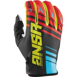 Answer Racing Mens Alpha Off-Road Motorcycle Gloves Red