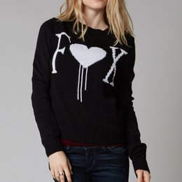 Fox Racing Womens Cold Hearts Sweater 2014 Black