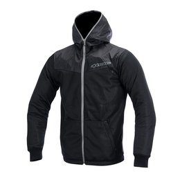 Grey Alpinestars Mens Runner Air Hooded Textile Jacket 2015